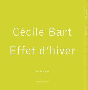 Catalogue Cécile Bart Effet d'hiver. 4ème de couverture.