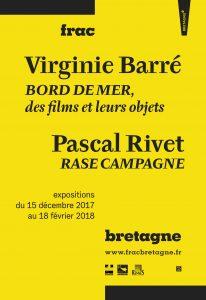 Affiche des expositions Virginie Barré et Pascal Rivet