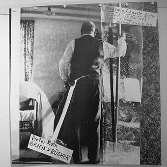 Affiche Dieter Roth, Grafik & Bücher, Akademie d. Künste Berlin, 13. April - 20. Mai 1973, 1973, collection Frac Bretagne © The estate of Dieter Roth