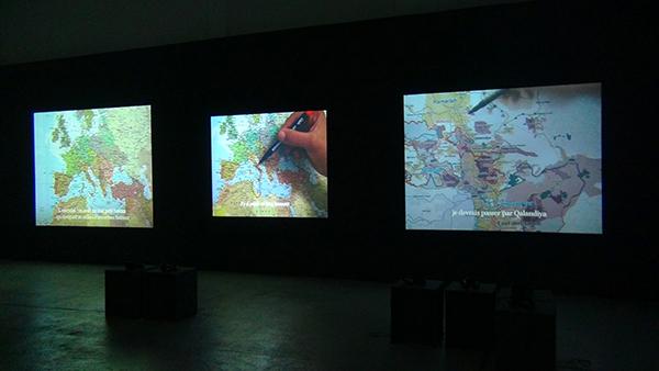 Bouchra Khalili, The Mapping Journey (2008-2011) © Droits réservés crédit photo : Marcel Dinahet