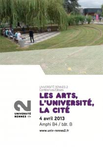Table ronde :  Arts, université et vie culturelle  @ Université Rennes 2, Campus Villejean | Rennes | Bretagne | France