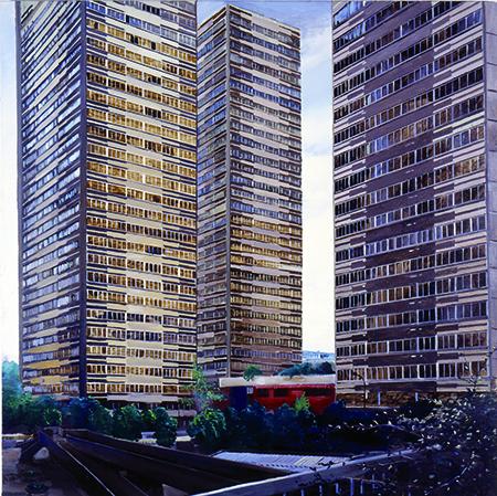 Yves Bélorgey, Tours Quartier Masséna, 1996, Collection Frac Bretagne