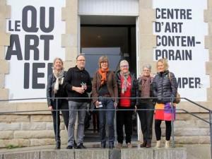 Quimper, Conseil d'administration et visite de l'exposition de Guillaume Pinard, Un trou dans le décor au Centre d'art Le Quartier