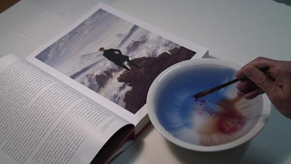Sarkis, « D'après Caspar David Friedrich », Voyageur contemplant une mer de nuage, 20/12/2006 , Collection Frac Bretagne © Adagp, Paris 2014