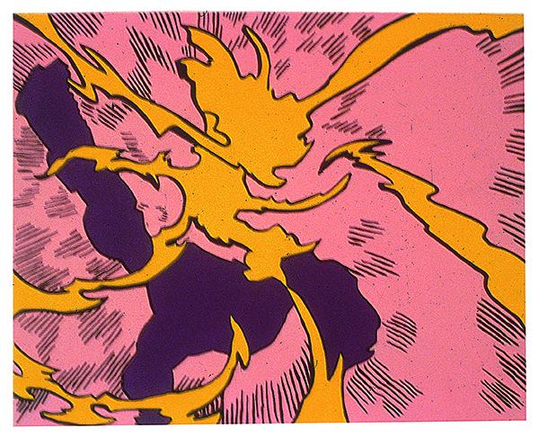 Art Keller, Peinture abstraite, 1993 Collection Frac Bretagne © Droits réservés Crédit photo : Galerie Michel Rein