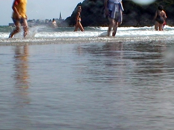 Marcel Dinahet, Sur la plage de Dinard , 2000 Collection Frac Bretagne © Marcel Dinahet