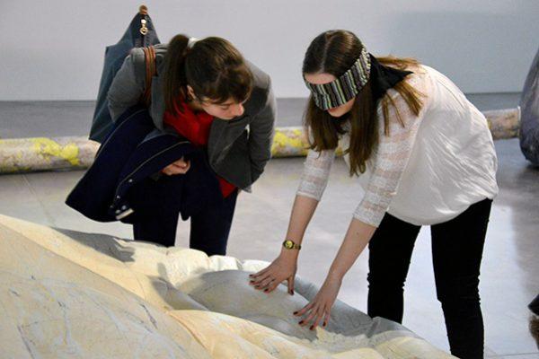 Visite sensorielle, expositions Peter Hutchinson et Philippe Durand, Vallée des Merveilles 2, Frac Bretagne, lycée Chateaubriand, 27 janvier 2016