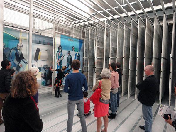 Visite des réserves, Frac Bretagne, Journées européennes du patrimoine 2015