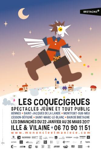 Affiche du Festival Coquecigrues 2017