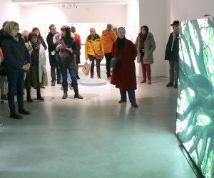 Les Amis du Frac Bretagne visitent l'exposition Lumières, Galerie de Rohan, Landerneau, le 7 janvier