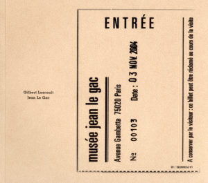 Jean Le Gac, Dans le vingtième arrondissement : le Musée Jean Le Gac