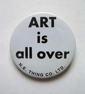 Iain & Ingrid Baxter, Badge Art is All Over, 1971, collection Frac Bretagne © droits réservés, crédit photo : droits réservés