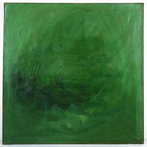 Tal-Coat, Le vert dans l'abrupt, 1962-1964, collection Frac Bretagne © ADAGP, Paris