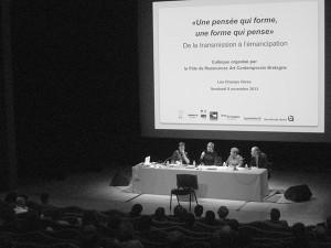 Colloque « Une pensée qui forme, une forme qui pense. De la transmission à l'émancipation » @ Auditorium | Rennes | Bretagne | France