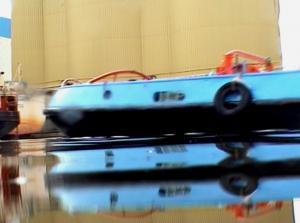 """Marcel Dinahet, Flottaisons, 2000, Vidéoprojection couleur, sonore, durée: 30'50"""", Collection Frac Bretagne © Marcel Dinahet"""