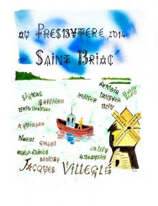 Jacques Villeglé, Saint-Briac (estampe), 2014 © Jacques Villeglé, crédit photo : Frac Bretagne