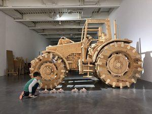 Visite-atelier du centre de loisirs de Chanteloup, le 24 01 2018. Exposition Pascal Rivet Rase Campagne. Crédit photo : Frac Bretagne