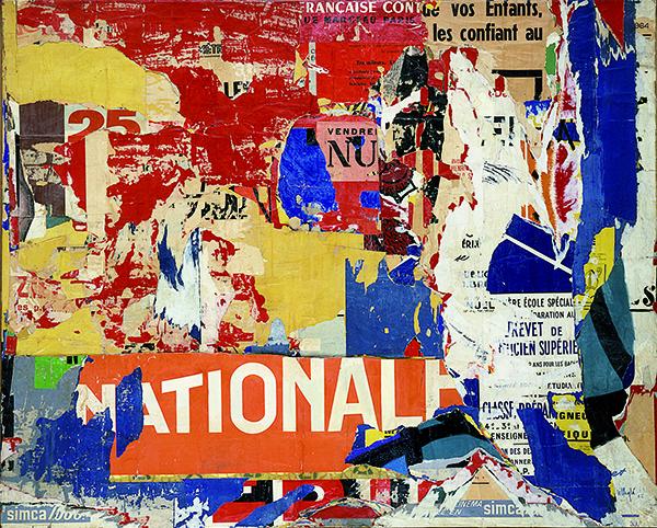 Jacques Villeglé, Rue de l'Échaudé Saint-Germain, Paris, 1er janvier 1965 Collection Frac Bretagne © ADAGP, Paris, Crédit photo : Droits réservés
