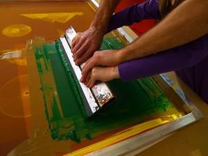 Atelier Imprimeur for ever #1, Frac Bretagne, 17 janvier 2015. Crédit Renaud Leroux