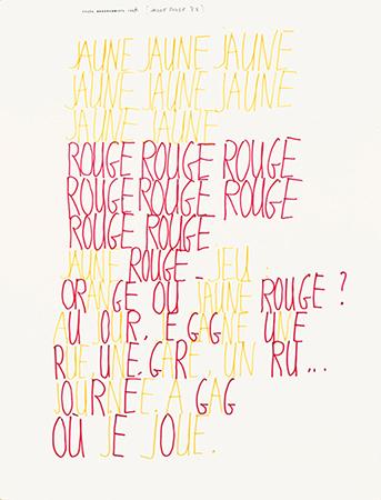 Dupuy, jaune rouge, collection frac Bretagne