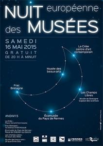 Affiche Nuit des musées à Rennes, samedi 16 mai 2015