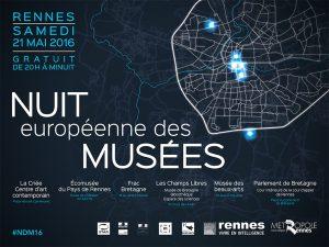 Nuit européenne des musées 2016 à Rennes @ Frac Bretagne | Rennes | Bretagne | France