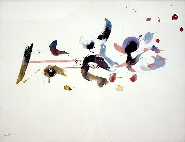 Pierre Jaouën, Sans titre, 1957, collection Frac Bretagne © Droits réservés. Crédit photo : Pierre Tressos