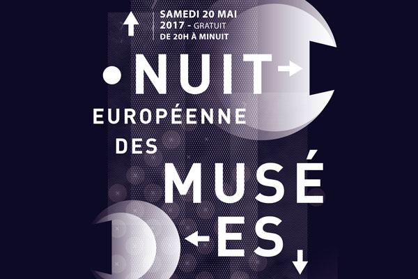 Visuel de la Nuit européenne des musées 2017 à Rennes