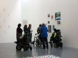 Visite de l'ADIMC 35, exposition Collection. La composante Peintures, Frac Bretagne, Rennes, le 2 mai 2019 © ADAGP, Paris