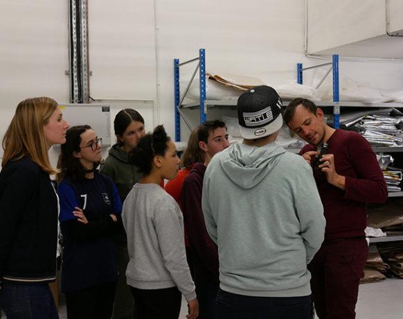 Atelier avec les jeunes du SESSAD Entre-temps de Châteaugiron, Frac Bretagne, Rennes, 2019. Crédit photo : Frac Bretagne