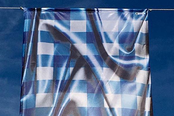 Karim Ould, Tablecloth Abstract flag, Saint-Briac-sur-Mer, 2019