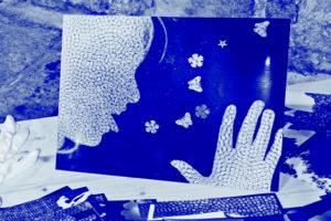 Mael Le Golvan, photogramme onde sonore surrimpression
