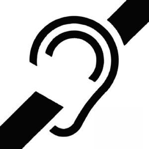 Pictogramme handicap oreille