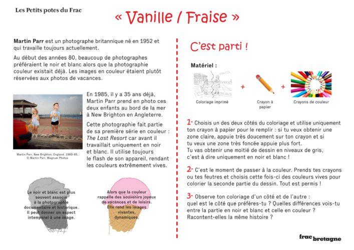 Les Petits potes du Frac du 4 novembre 2020 : Vanille/Fraise